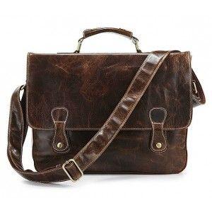 Luxury briefcase, men leather bag