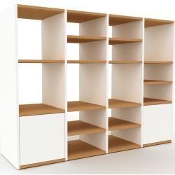 Photo of Regalsystem Weiß – Flexibles Regalsystem: Türen in Weiß – Hochwertige Materialien – 156 x 118 x 47 c