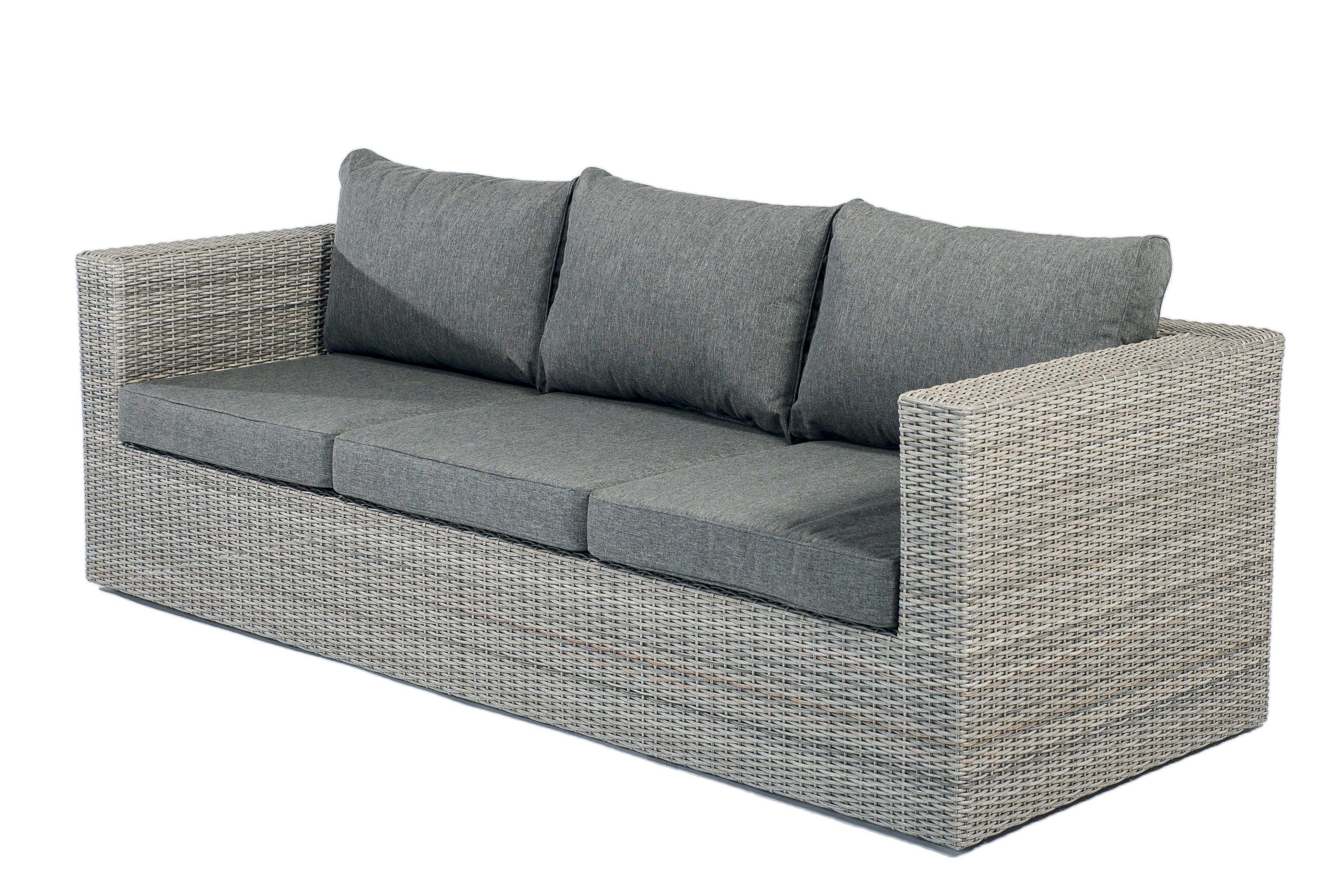 Gartensofa Illias 3 Sitzer Loungesofa Aus Polyrattan Mit