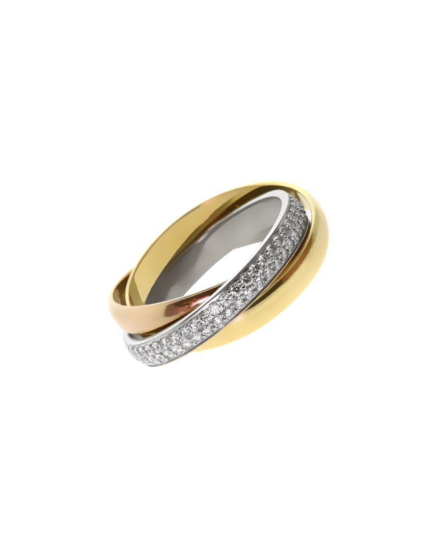 Cartier Trinity 18K Tri-Color 0.75 ct. tw. Diamond Ring is on Rue. Shop it now.