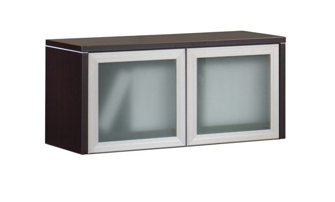 wall mounted storage unit with frosted glass doors - pl208gnd