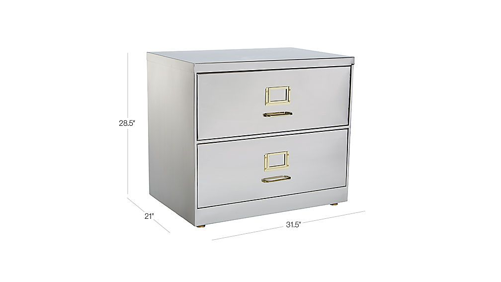 Stainless Steel File Cabinet Cb2 Filing Cabinet Cabinet Modern File Cabinet