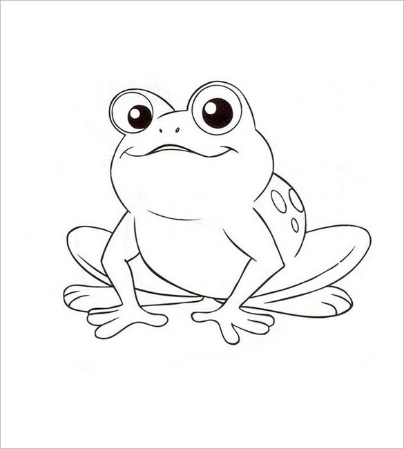20 Frog Shape Templates Crafts Colouring Pages Frog Coloring
