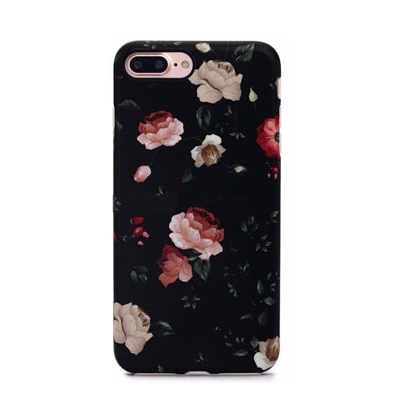Dark Rose Floral Case For Iphone 8 Plus 7 Plus Elemental Cases