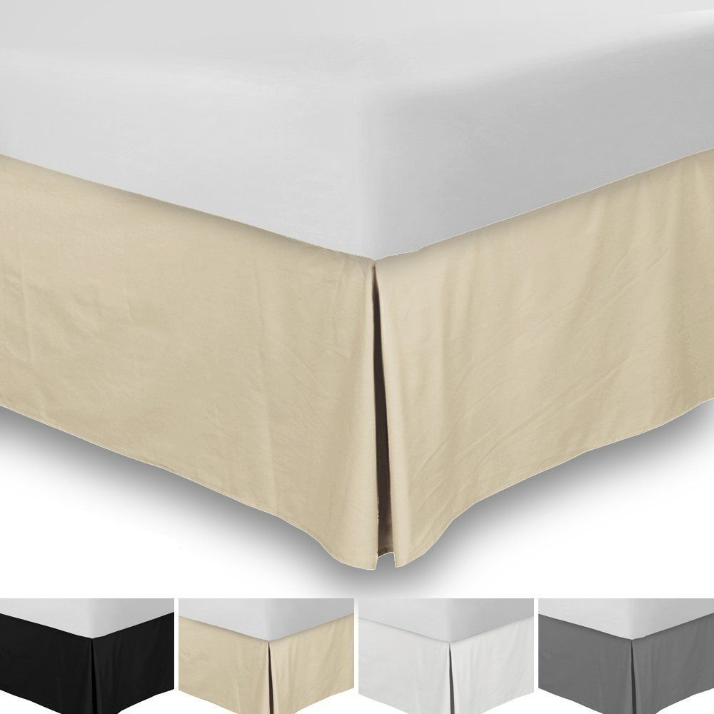 Srp Bedding Real 210 Thread Count Split Corner Bed Skirt