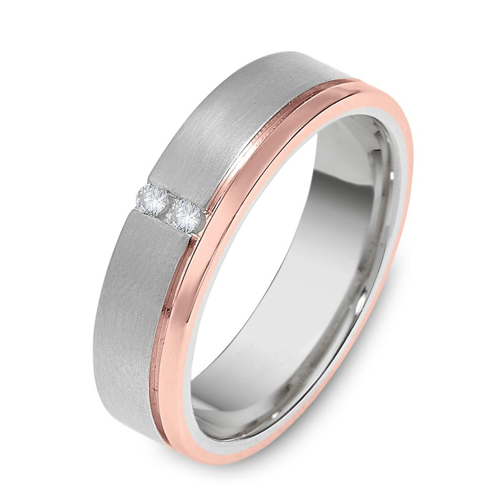 Dora White And Rose Gold Mens Wedding Band With Diamonds The Perfect Or Committment Ring For A Modern Gentleman This Features Satin