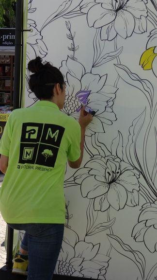 Mural Arte-Terapia Anti-Stress na @Editorial Presença