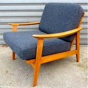 Fauteuil Scandinave en hêtre années 50 Design Market