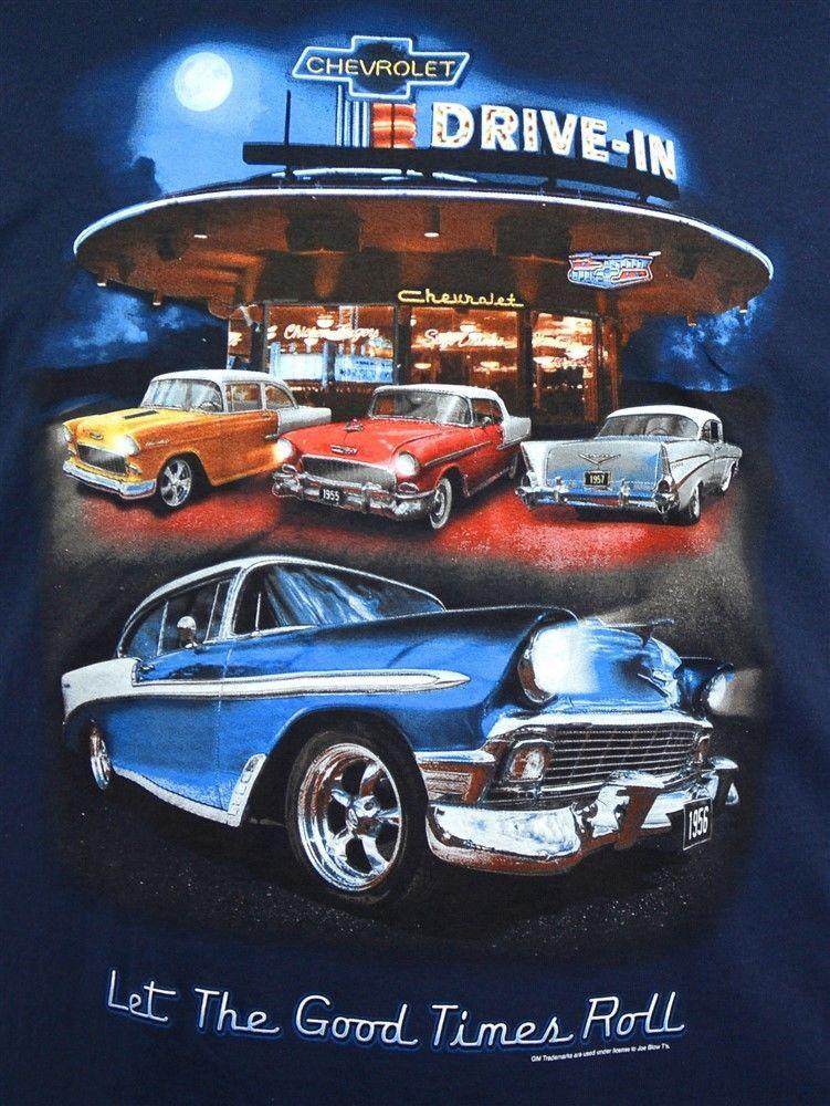 56 57 Chevy Tri-Five T-shirt 55 Chevrolet Drive in 100/% Cotton Preshrunk