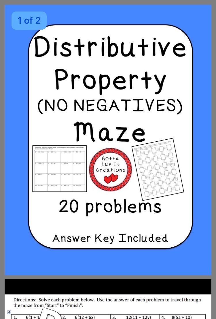 Pin By Jodi Weissman On Algebra Grade 6 Solving Distributive Property Algebra [ 1108 x 750 Pixel ]