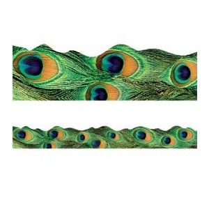 Peacock feather bulletin board borders for the classroom