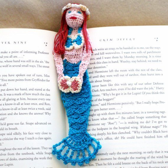 Crochet mermaid bookmark, mermaid decoration, unique bookmarks ...