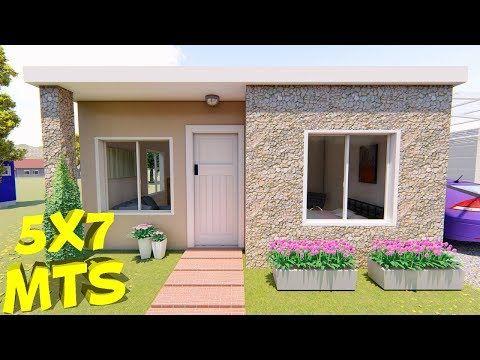 Casa de 5x7 mts YouTube Fachadas de casas terreas