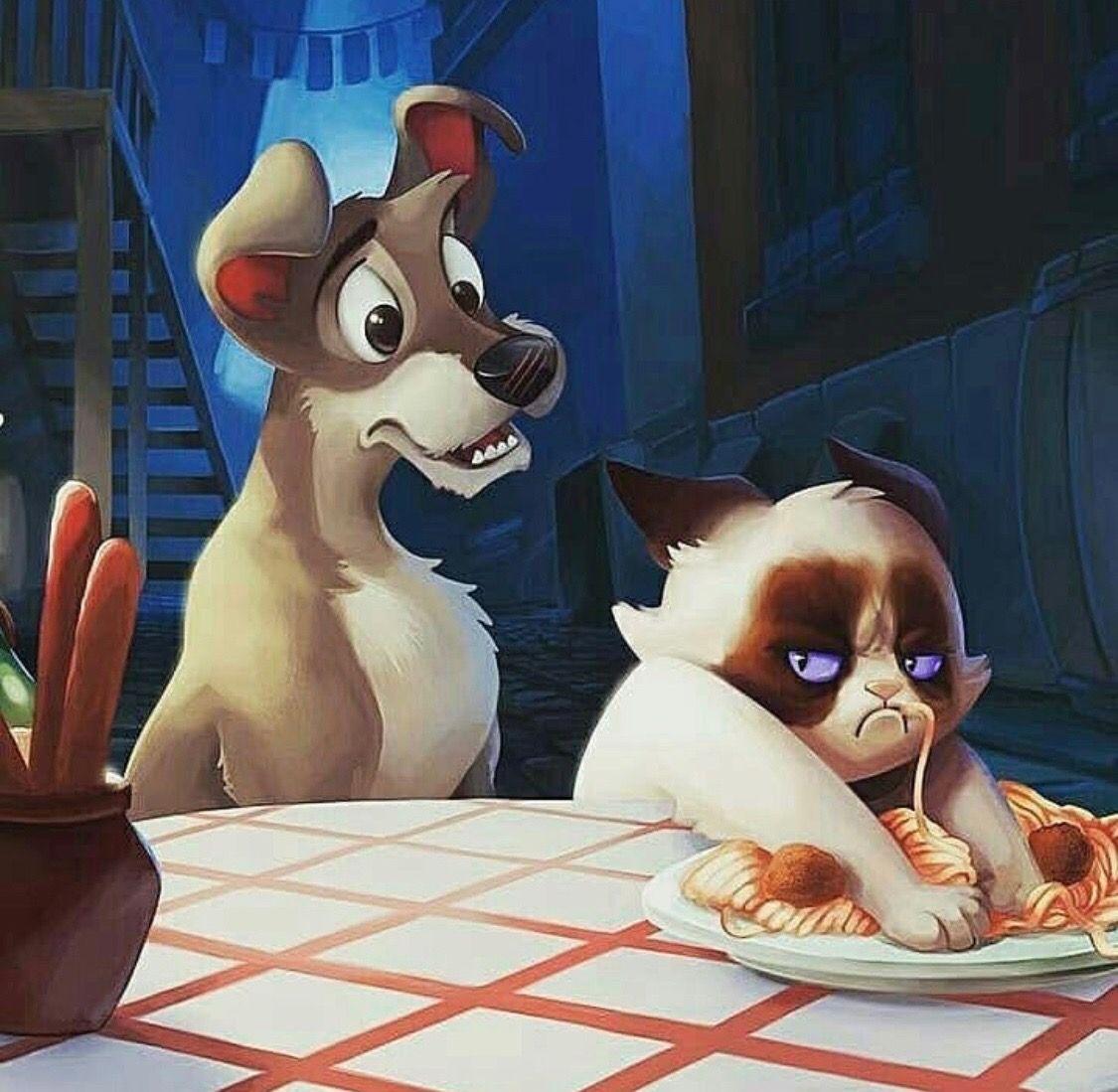 Pin By Jasmine Goree On Humor Disney Fan Art Grumpy Cat Disney Art