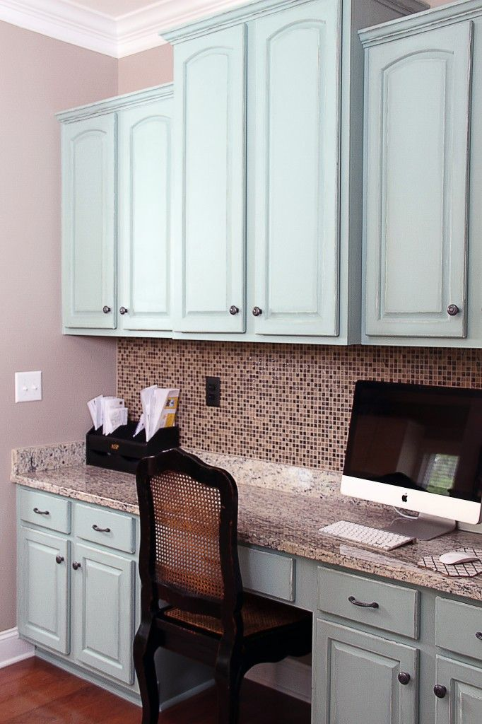 Annie Sloan Duck Egg Blue Painted Kitchen Cabinets Desks Annie