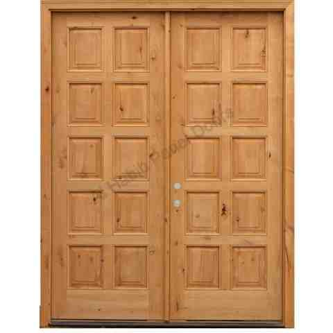 Solid Diyar Wood Double Door With Solid Sides Frame Hpd507 Main Doors Al Habib Panel Doors In 2020 Wooden Double Doors Main Door Design Double Doors Interior
