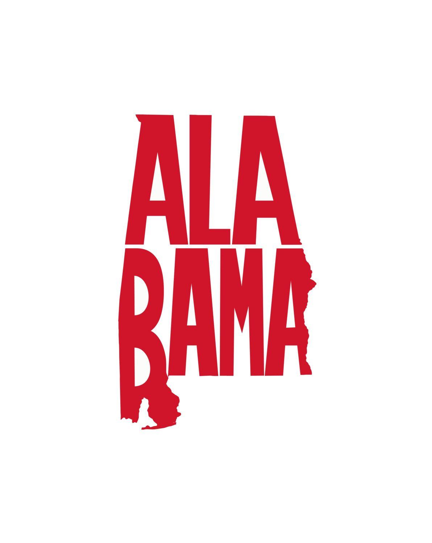 Alabama state decal vinyl decal alabama sticker state decal car decal yeti decal tumbler decal by dixielife on etsy