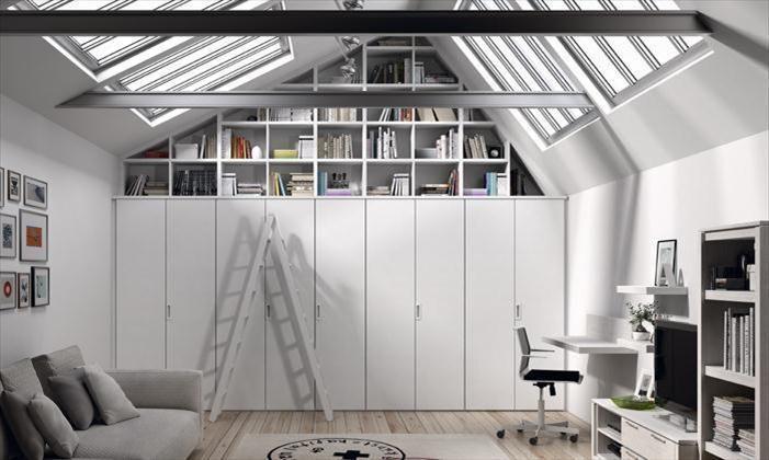 Armario box a medida con estanter a abierta para espacio - Estanteria interior armario ...