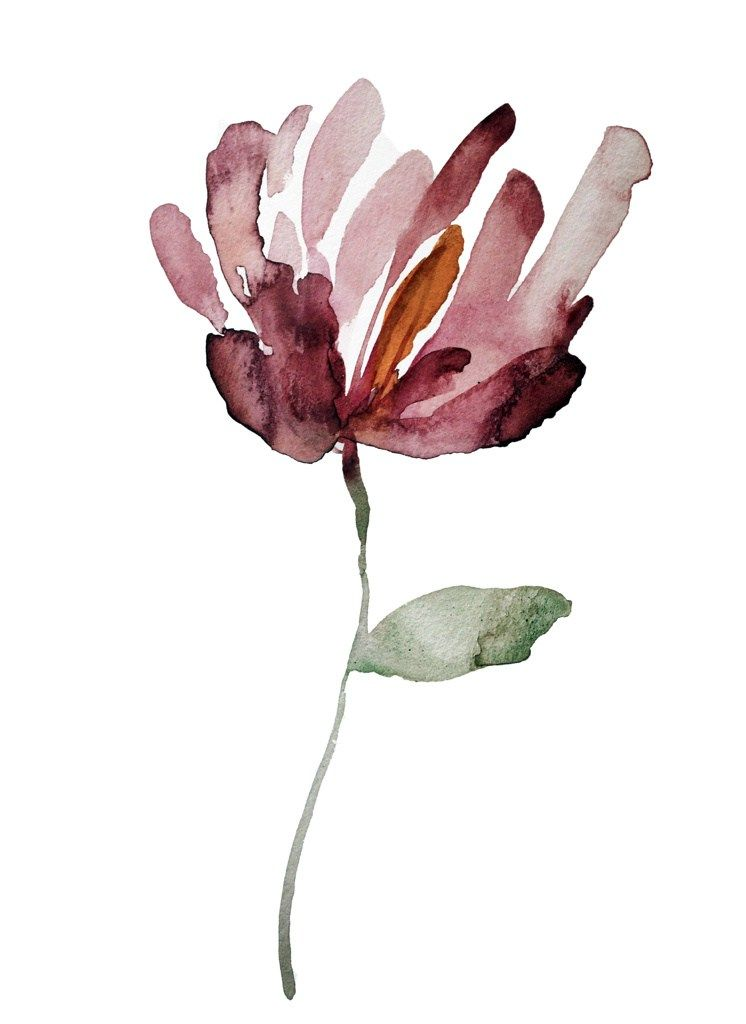 Image Result For Simple Magnolia Flower Watercolor Watercolor Flowers Minimalist Watercolor Abstract Watercolor