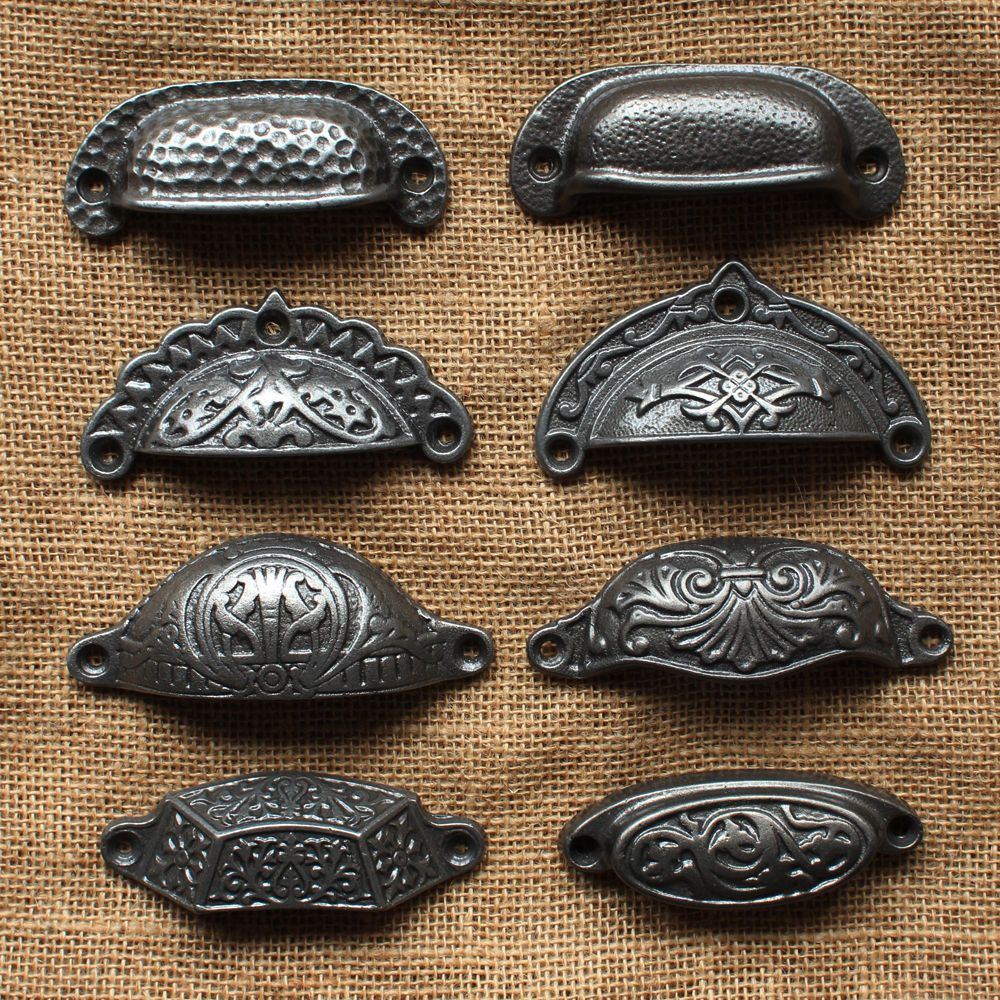 ~VICTORIAN DESIGN~CAST IRON CUP HANDLES~