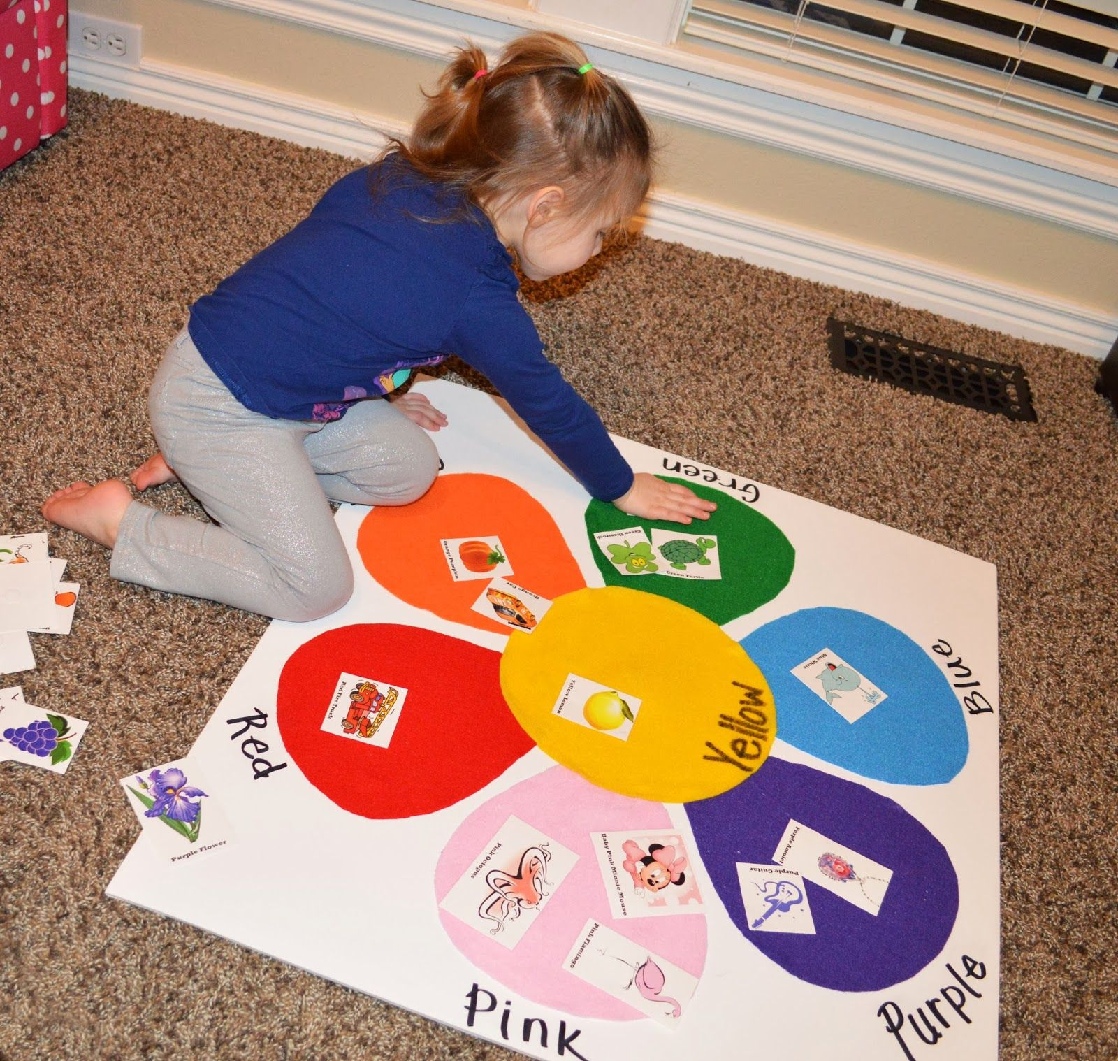 The Keeper Of The Cheerios Toddler Color Matching Felt Board With Picture Identification