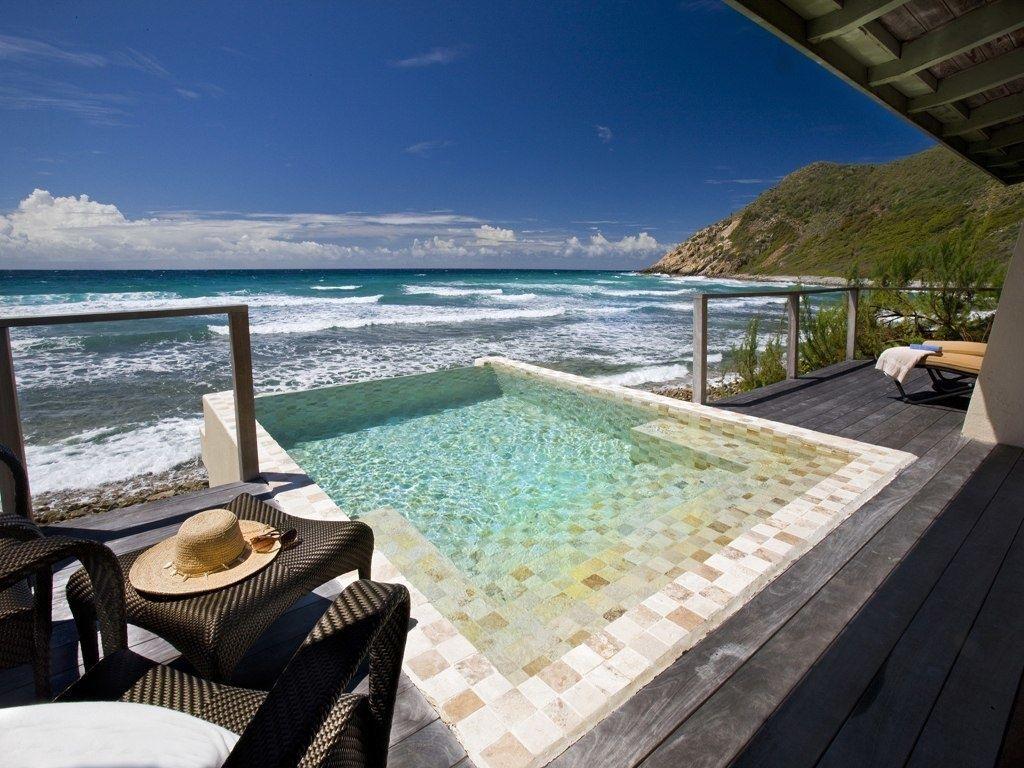 Pool at the Biras Creek hotel on Virgin Gorda in the British Virgin Islands