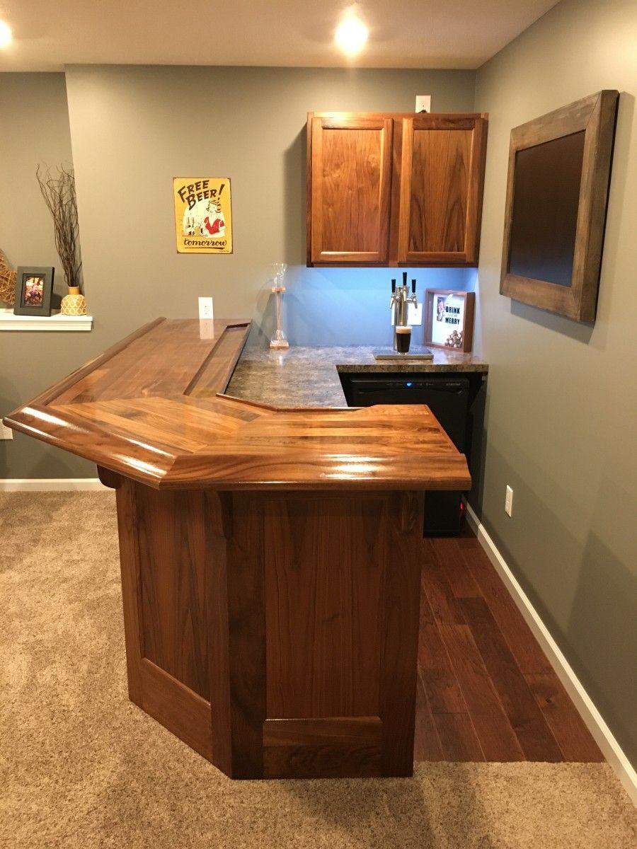 Finished Bar Photo Gallery Bar Rails Parts Diy Home Bar Home Bar Plans Building A Home Bar