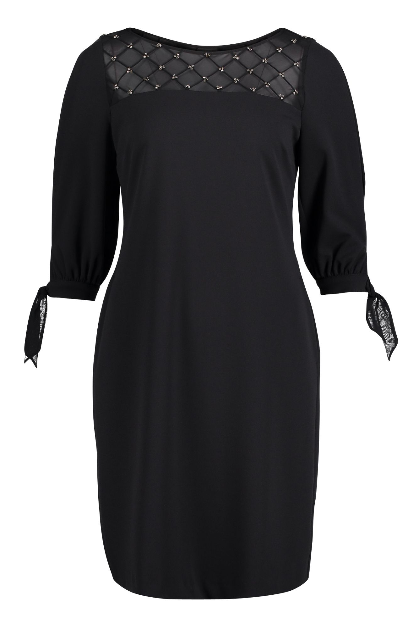 elastisches kleid mit Ärmel schwarz vera mont | mode