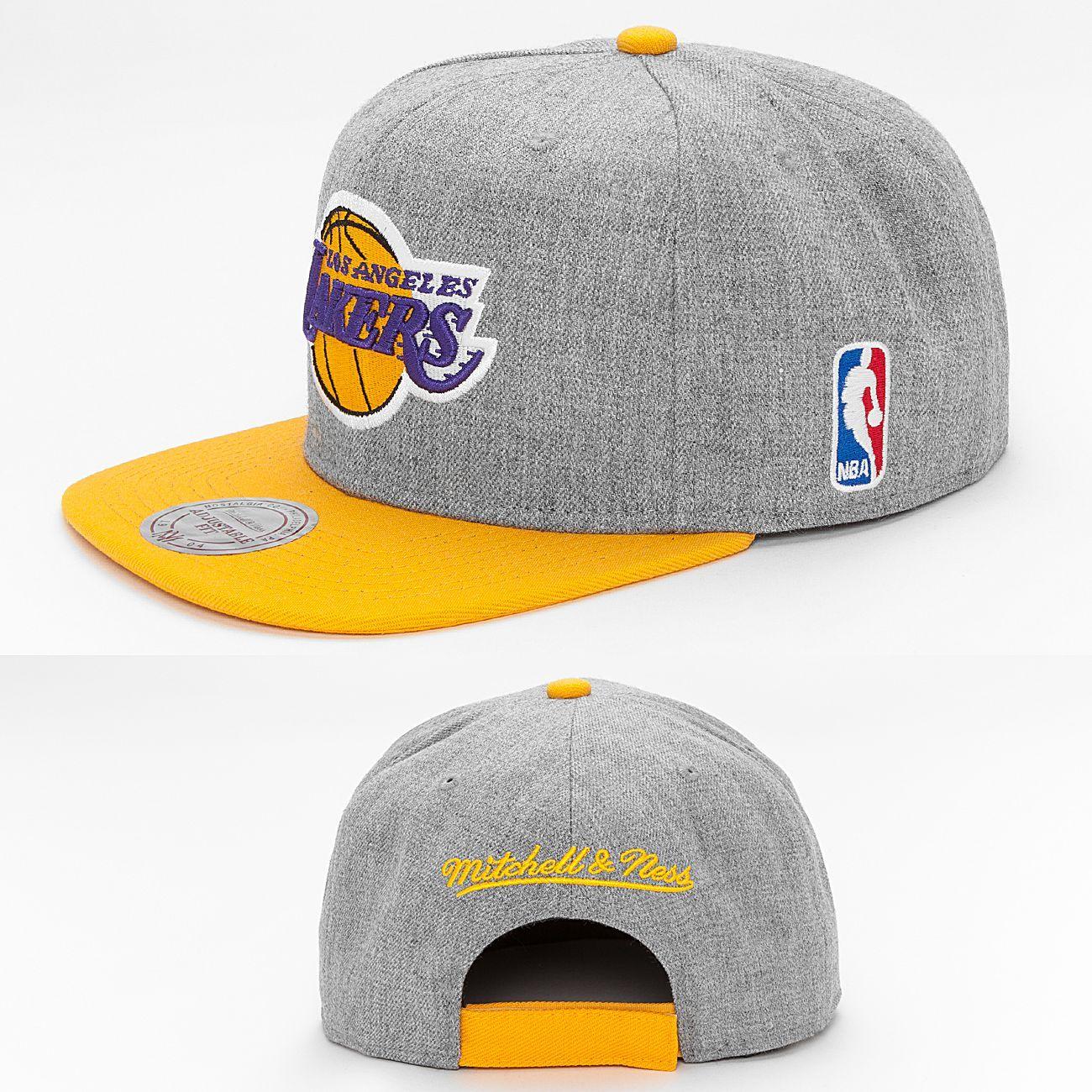Mitchell and Ness Team Pop LA Lakers Snapback Cap # ...