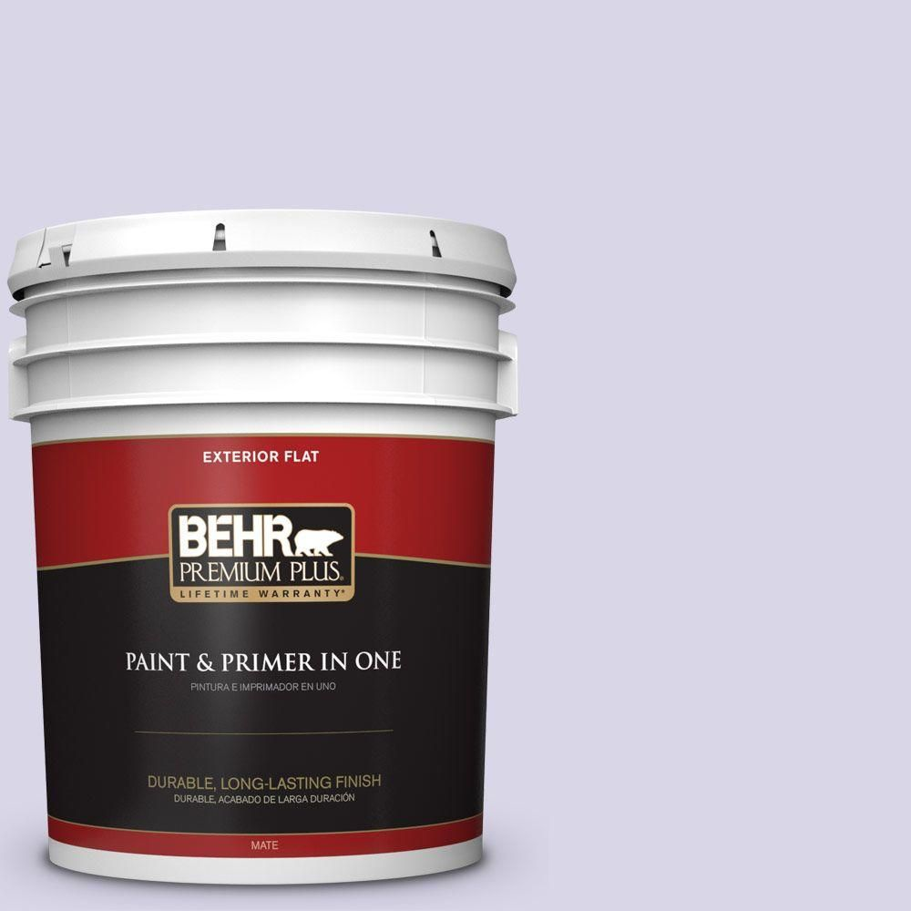 9edb6b7384 #630A-2 February Frost Flat Exterior Paint and Primer in One-405005 - The  Home Depot