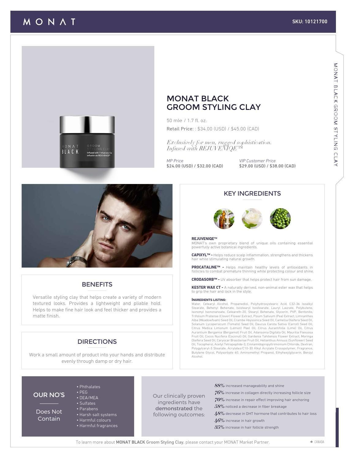Monat black groom styling clay get yours at haircanada