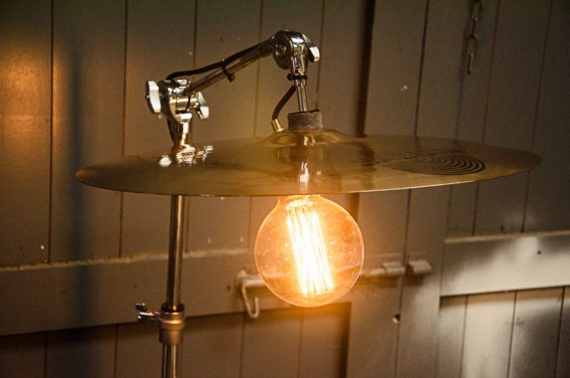 Twisted Salvage Designs by Simon Jay Drum light, Lamp