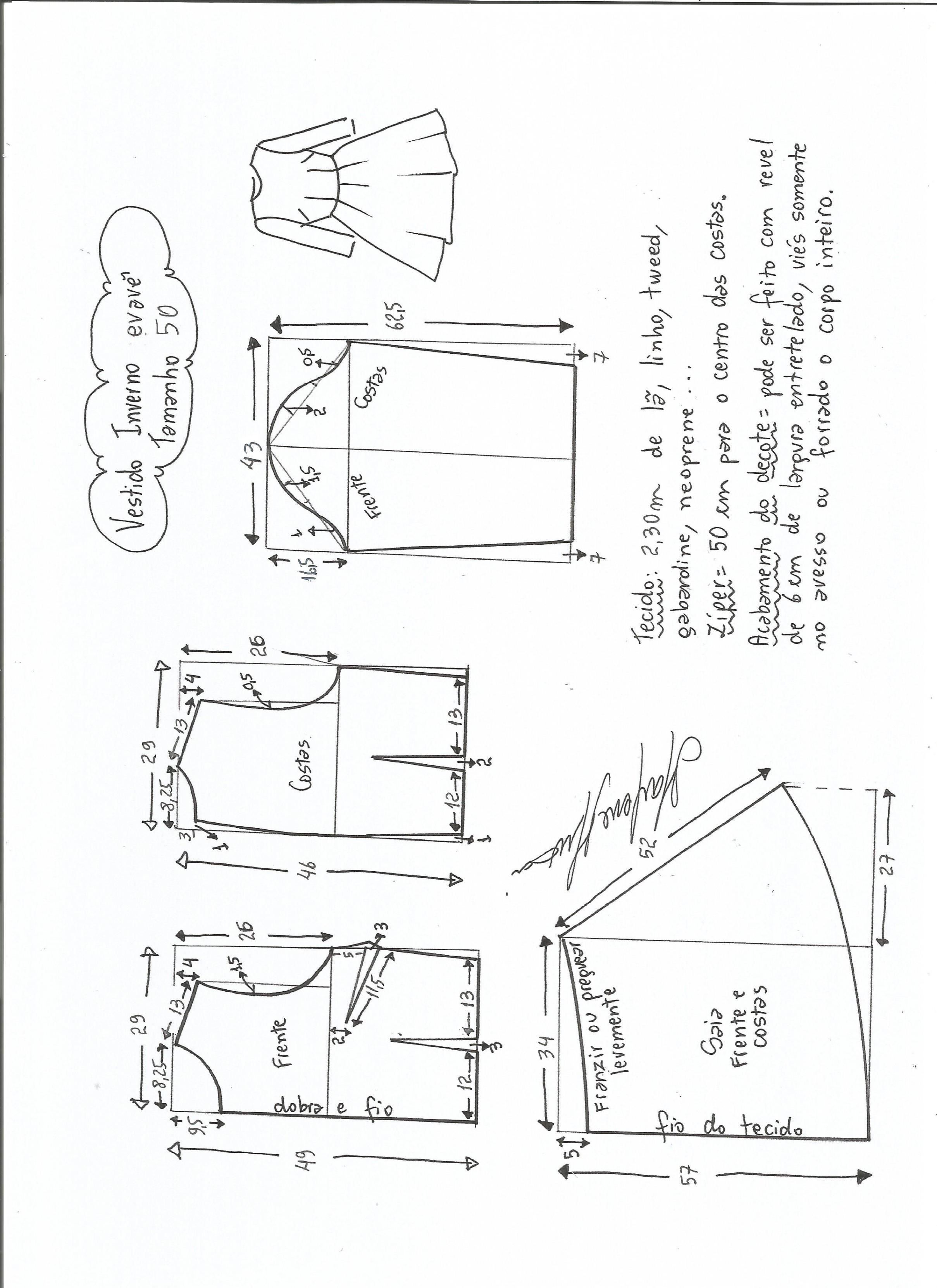 Patrón de vestido de invierno | sewing patterns | Sewing, Sewing ...