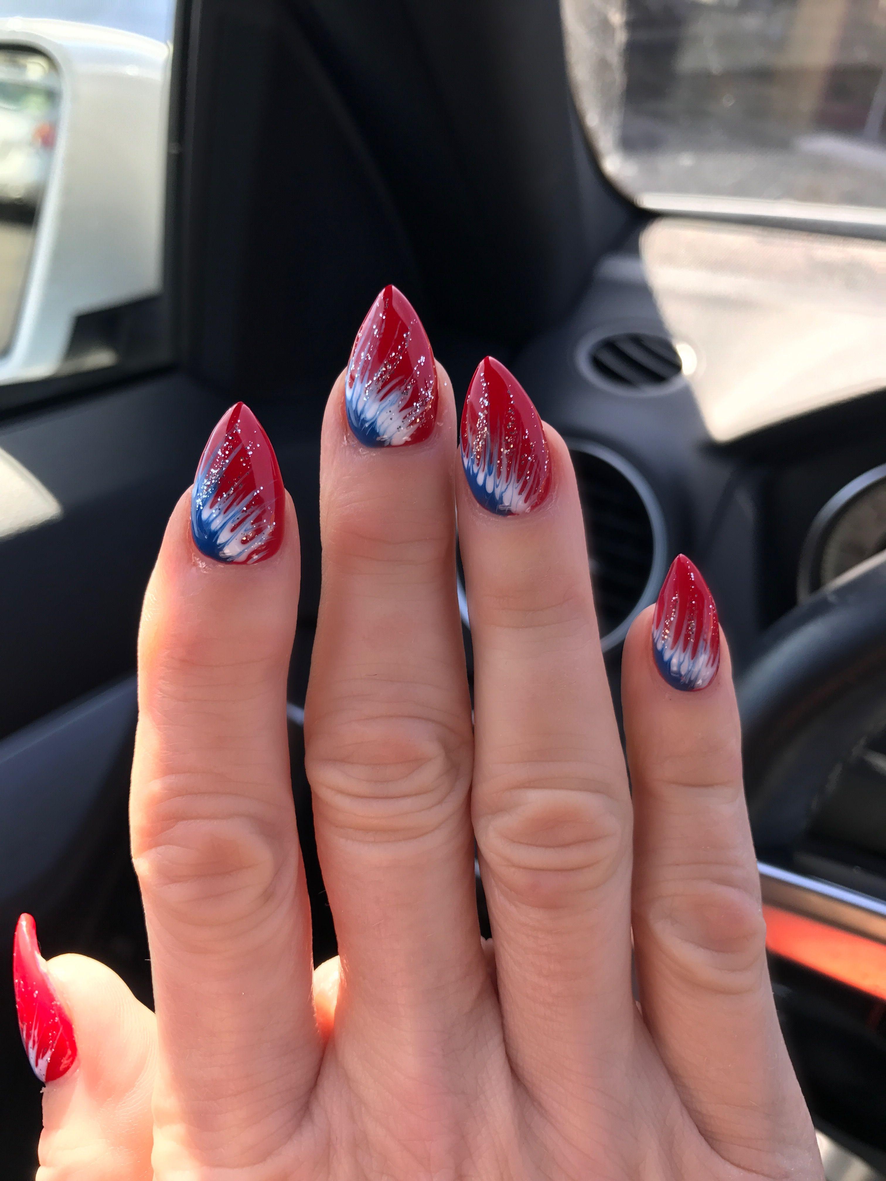 New England Patriots Nail Design Patriotic Nails Design Nails New Year S Nails