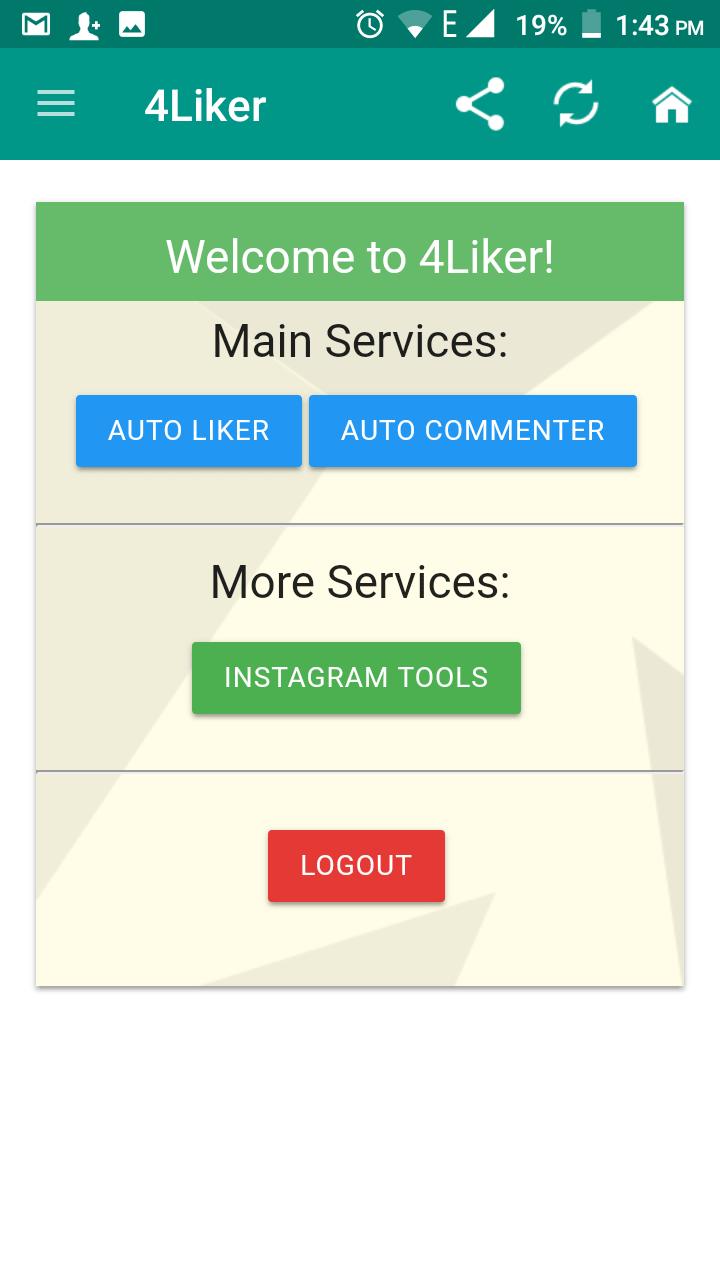 4liker Apk Download Latest Version V2 6 2020 For Android In 2020 Instagram Tools App Facebook Instagram