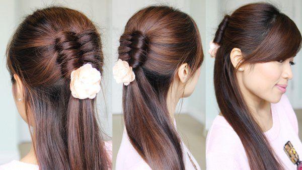 Bebexo Hairstyles Makeup Reviews Half Updo Hairstyles Hair Tutorial Infinity Braid Hair