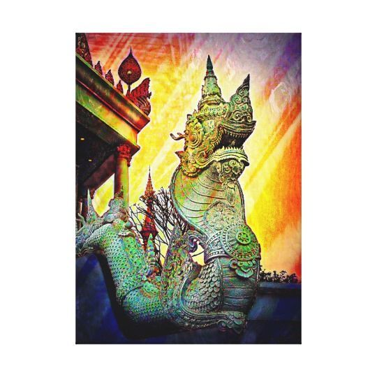 Dragon of the East Canvas Print | Game rooms, Metal walls and Game ...