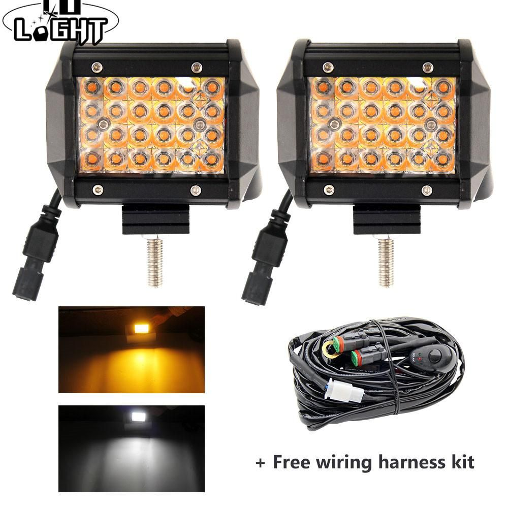 4inch 72w 4 Row 12d Led Work Light 12v 3000k 6500k Strobe Offroad Led Bar Driving Lamp For Truck Suv Atv 4x4 4wd Fog Lig Offroad Led Led Work Light Work Lights