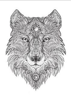 art meditation 18 free coloring pages for adults lonerwolf - Wolf Coloring Pages For Adults