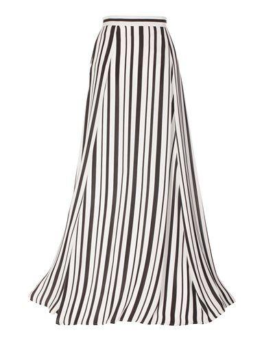 55084af7ad075e Langer Rock mit Schwarz-Weiß-Streifen   Lange Röcke   Patrones de ...