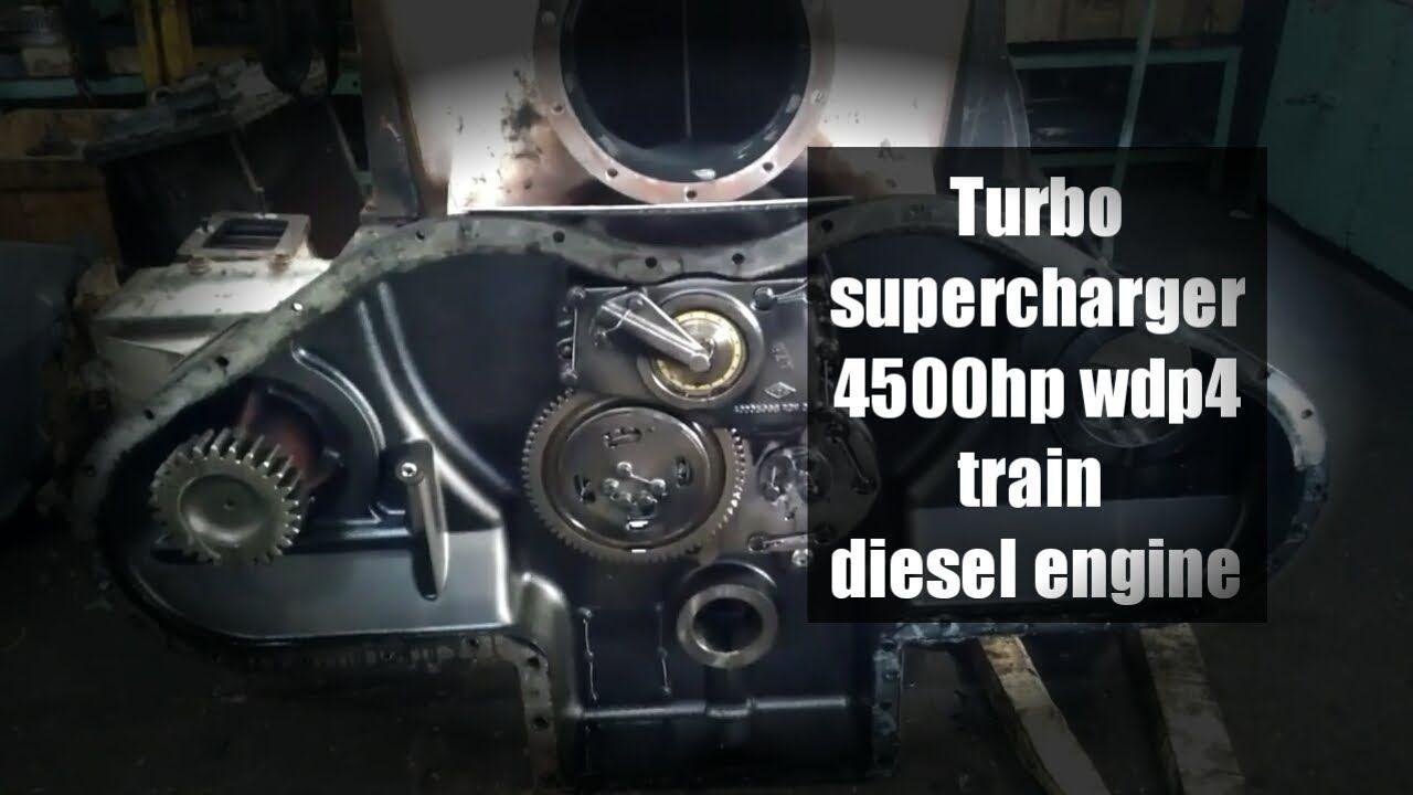 Turbocharger of HHP Wdp4 4500hp Train locomotive | mechanics