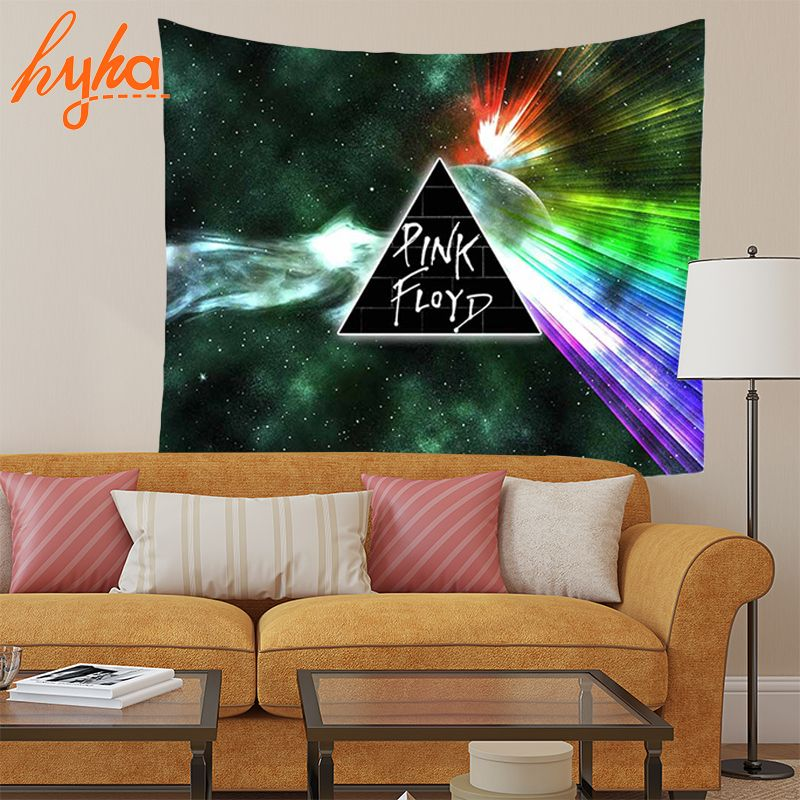 Hyha 130x150cm Colourful Geometric Tapestry 100% Polyester Real Tiles Halloween Starry sky Yoga Wall Decoration Wall Hanging