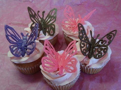 These Chocolate Butterfly Cake Decorations Are Perfect For All Your Baking And They Are Ve Chocolate Butterflies Butterfly Cake Decorations Chocolate Garnishes