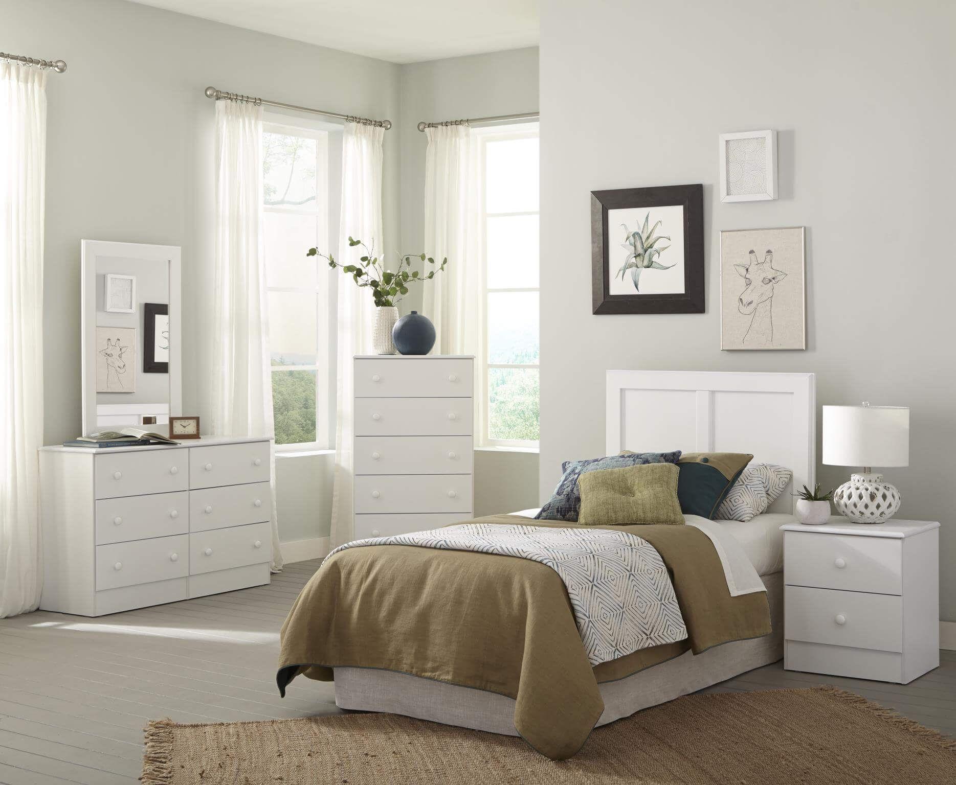 193 Kith White Bedroom Set