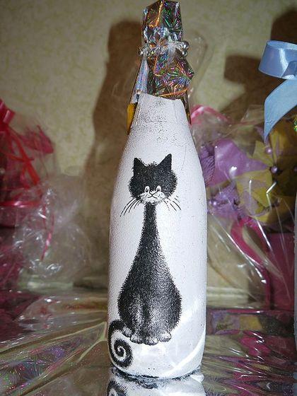Картинки коты на бутылке