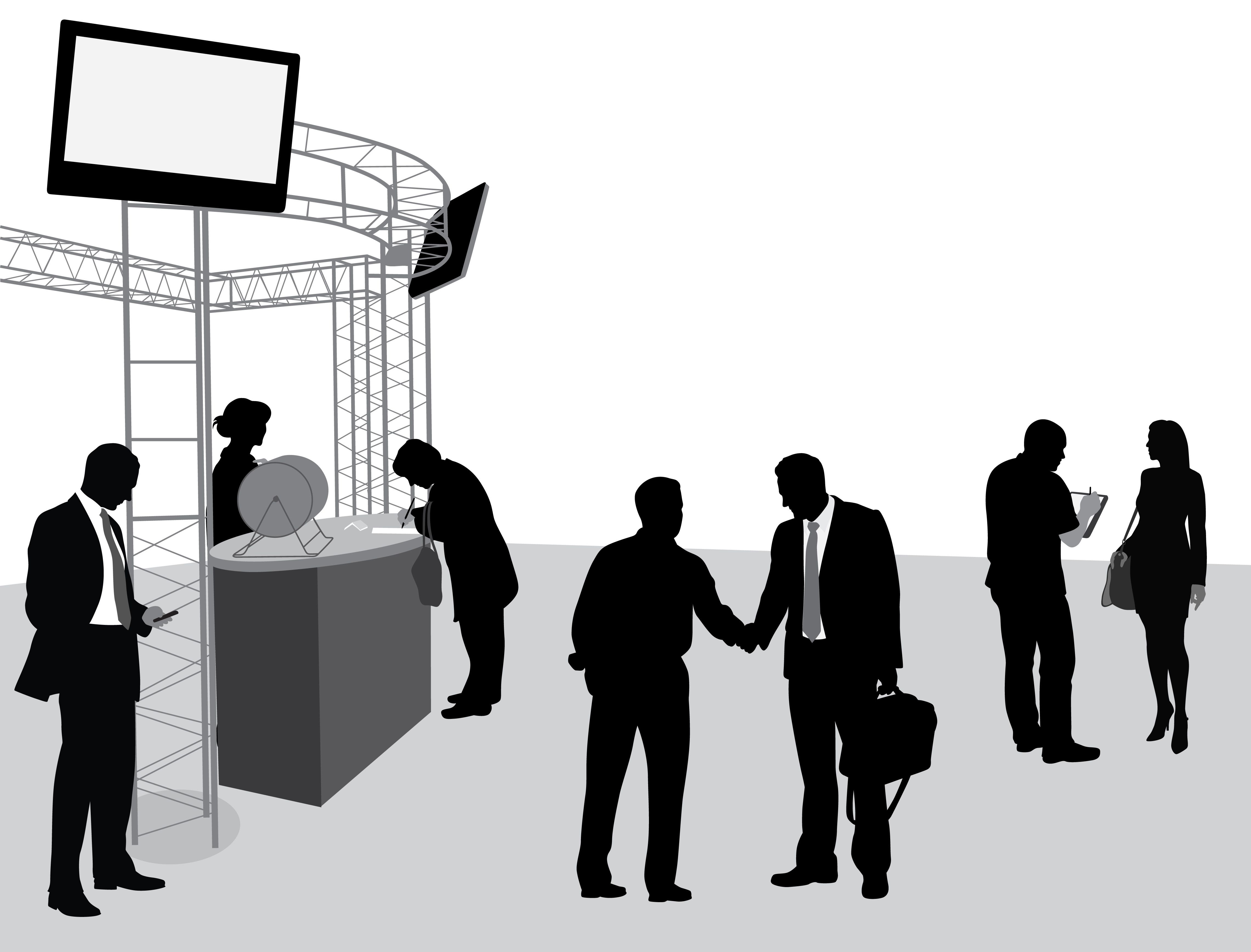 Exhibition Booth Icon : Meaningful conversation kickstarters for trade show
