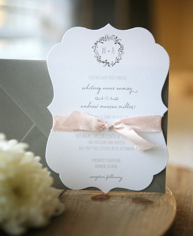Custom Wedding Invitation Suite Plantation Die Cut Invitations
