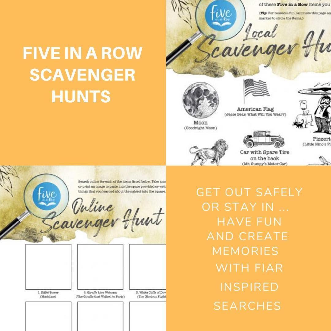 Free Scavenger Hunt! in 2020 Scavenger hunt, Five in a