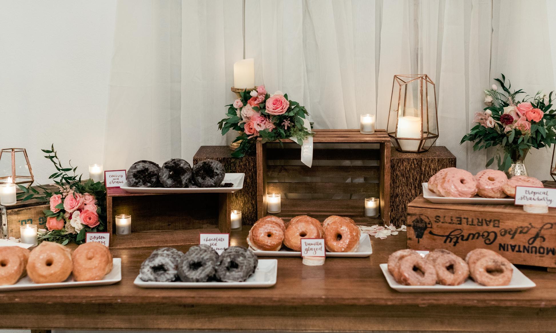 Donut Bar Dessert Station For A Shower Celebration Or Wedding