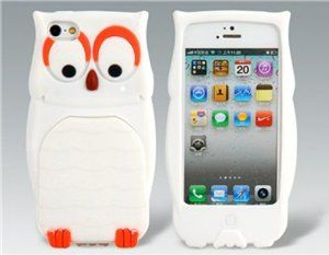 Amazon.com: Tanboo 3D Owl Protective Case for iPhone 5 (White): Cell Phones & Accessories